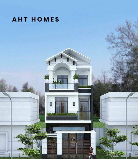 Thiết kế nhà phố đẹp 3 tầng hiện đại, sang cảnh và tiện nghi.