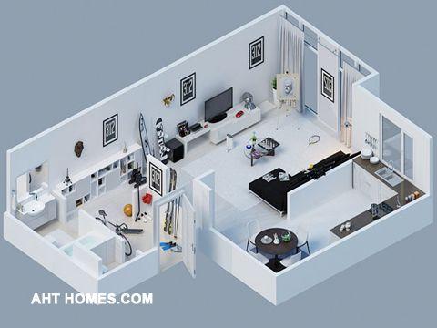 Thiết kế nội thất giúp bạn định hình được không gian rõ ràng nhất