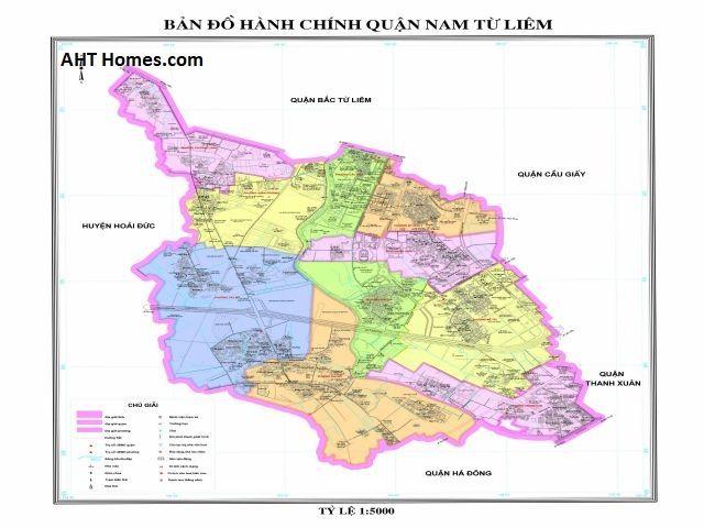 Quận Nam Từ Liêm có vị trí địa lý khá thuận lợi để phát triển xây dựng đô thị