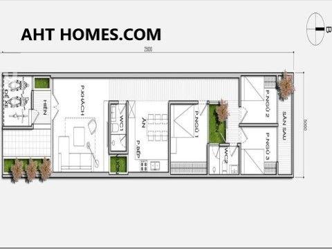 nhà phố 1 tầng mái thái diện tích 4x15m