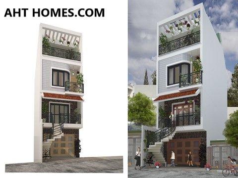 Mẫu nhà phố mặt tiền 5x13m