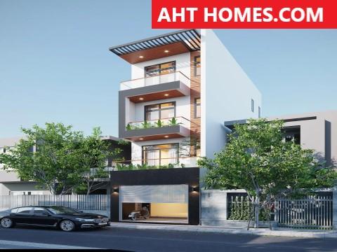 Thiết Kế Thi công xây nhà trọn gói nhà phố quận Hoàng Mai Hà Nội Chú Điều