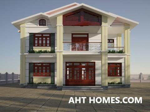 Thiết Kế Thi công xây nhà trọn gói nhà Biệt Thự quận Bắc Từ Liêm Hà Nội anh Thắng
