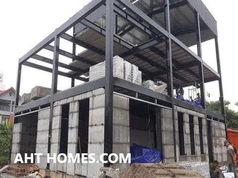 Chi phí xây nhà khung thép 2 tầng