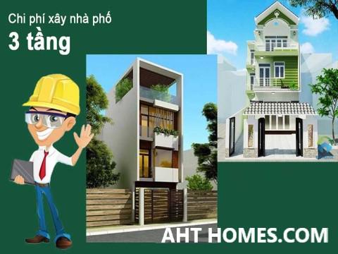 Chi phí xây nhà phố 3 tầng