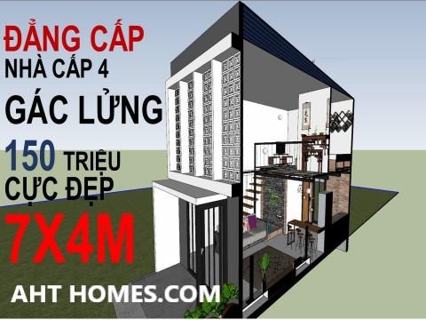 cách tính chi phí xây nhà cấp 4 gác lửng